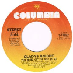 GLADYS KNIGHT YOU BRING OUT THE BEST IN ME COLUMBIA